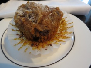 Pumpkin Spice Pecan Chocolate Chip Muffins