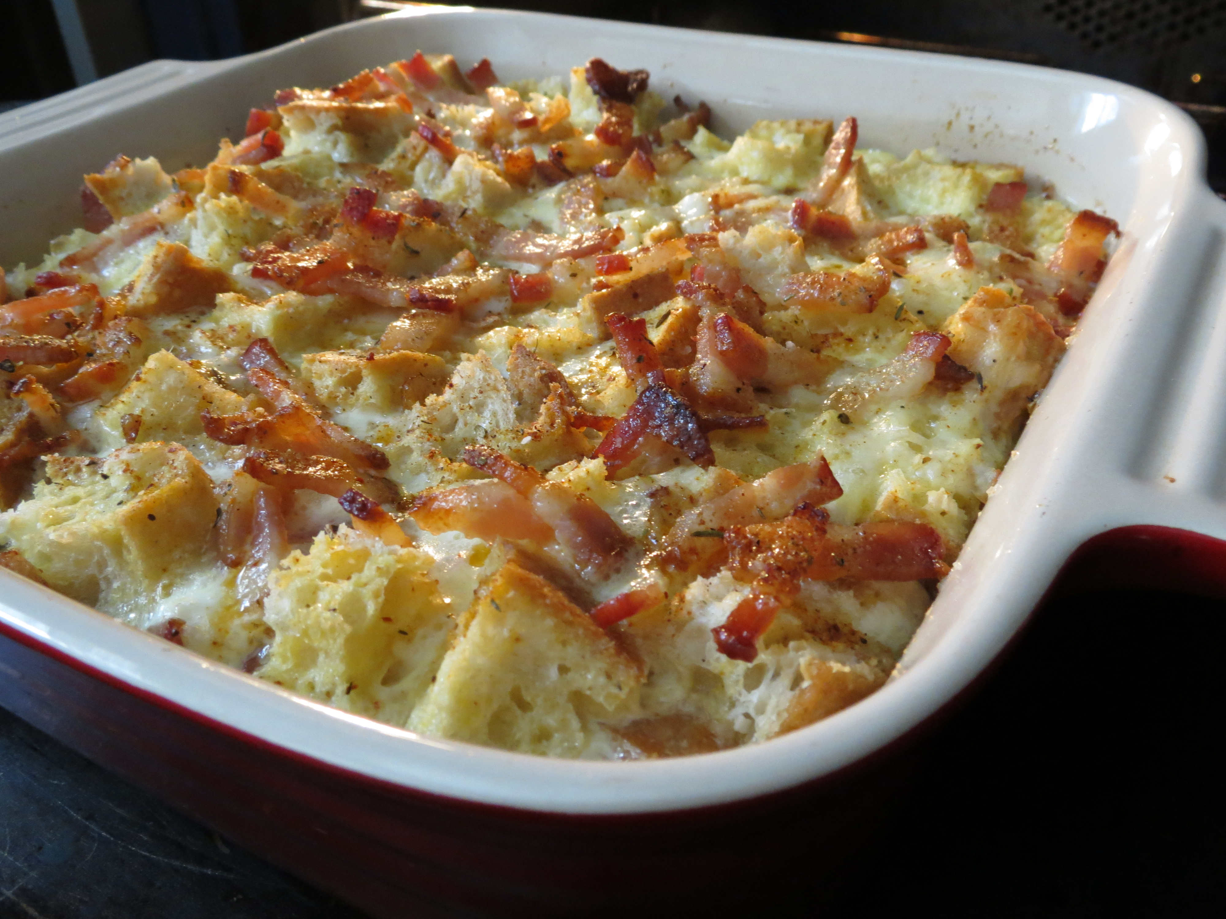 Egg Strata Prepossessing With Bacon Egg and Cheese Strata Photos