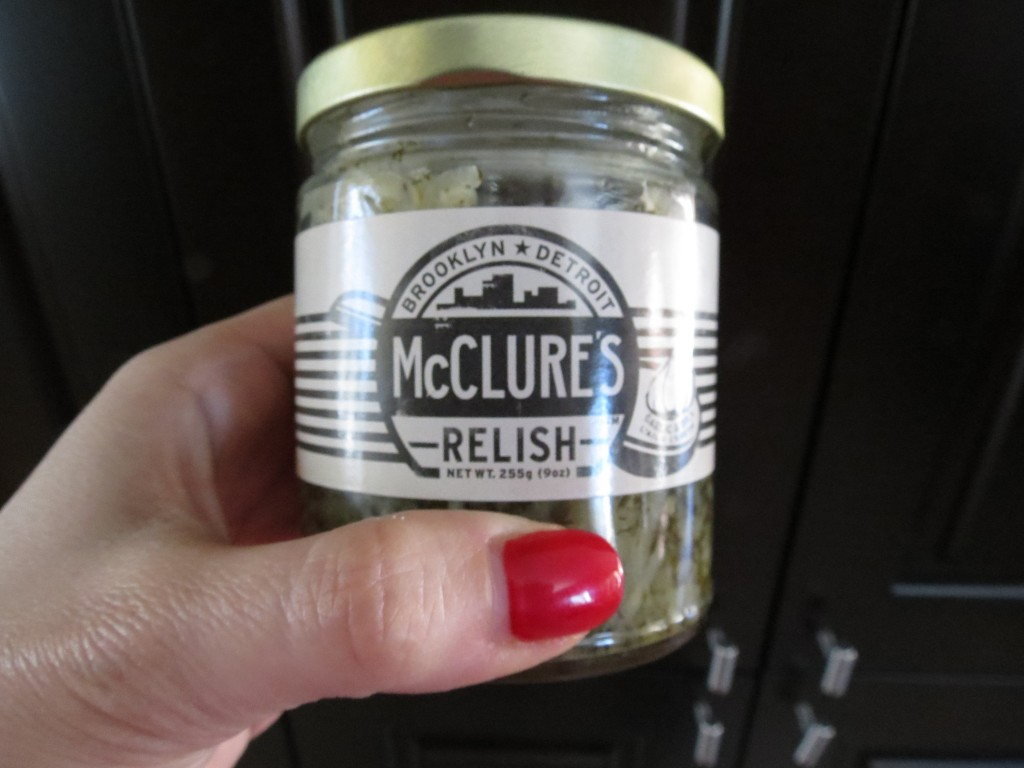 McClure's garlic and dill pickle relish.  It will change your life.  And your sandwich.
