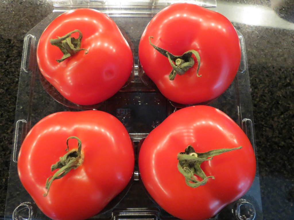 If you can, use fresh tomatoes for this recipe, but canned tomatoes will work equally well.