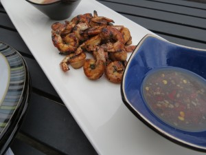 Shrimp on the Grill with an Asian Dipping Sauce