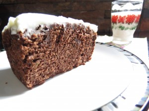 Chocolate Zucchini Cake with Lemon Cream Cheese Frosting