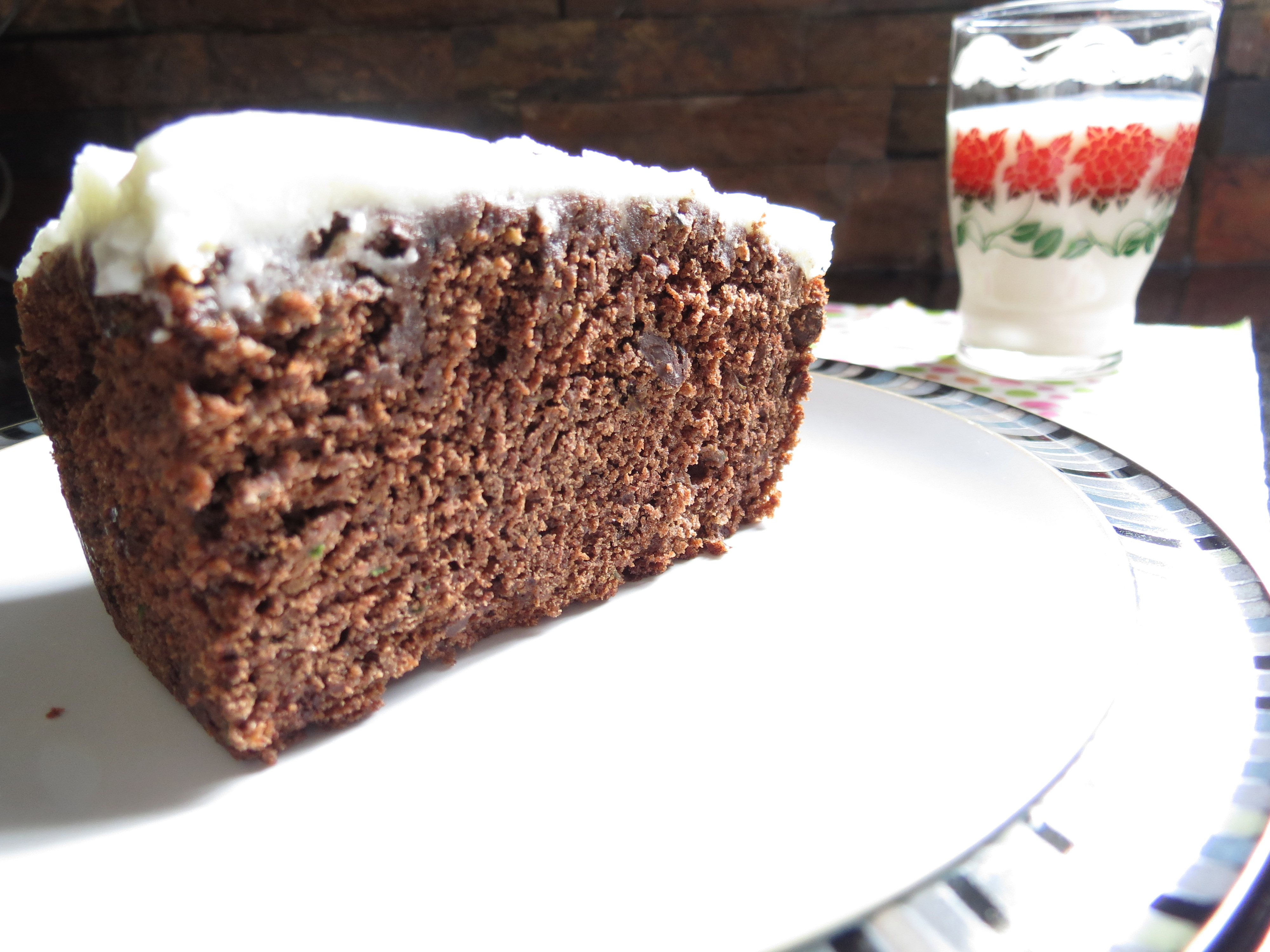 Chocolate Zucchini Cake with Lemon Cream Cheese Frosting - The Lit ...