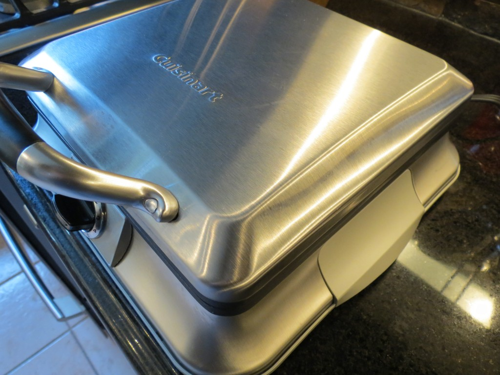 My trusty waffle iron.  Makes great waffles, and now, great grilled cheese sandwiches too!