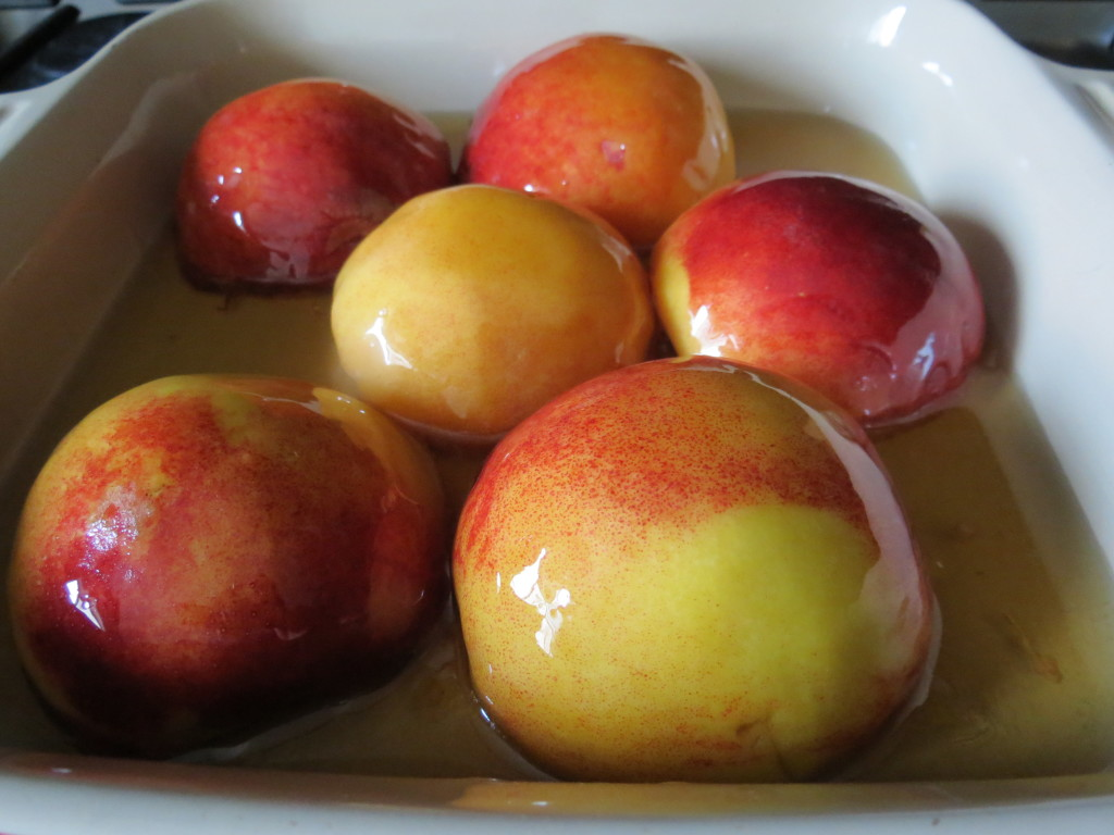 Vermouth Roasted Peaches